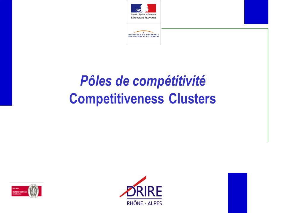 Pôles de compétitivité Competitiveness Clusters