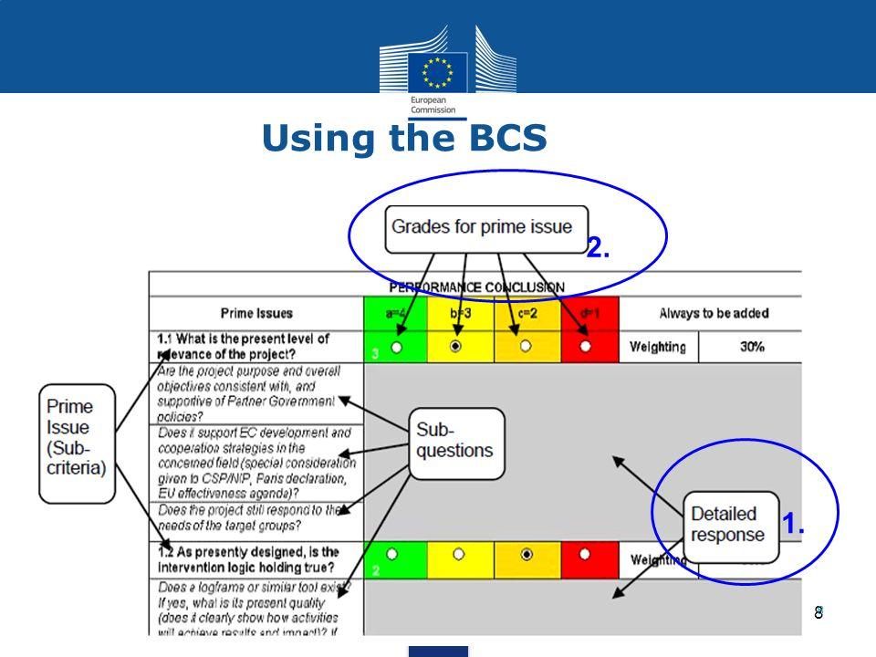 8 8 1. 2. Using the BCS
