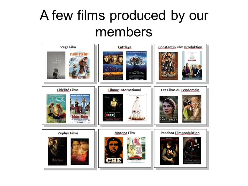A few films produced by our members