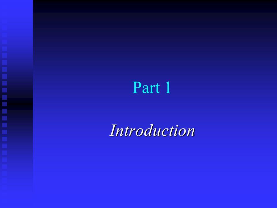 Part 1 Introduction