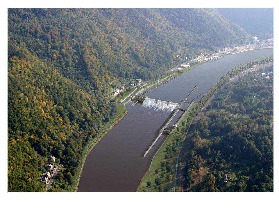 Plánované vodní dílo na Labi -Děčín