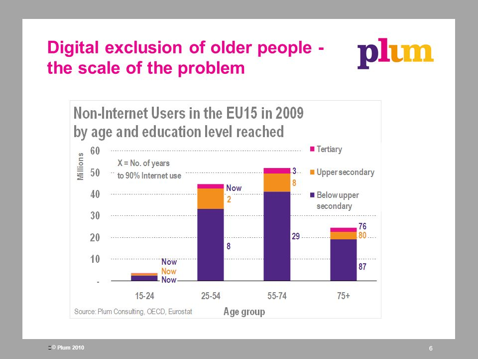 Plum 2010 Digital exclusion of older people - the scale of the problem 6