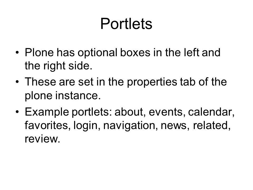 Portlets