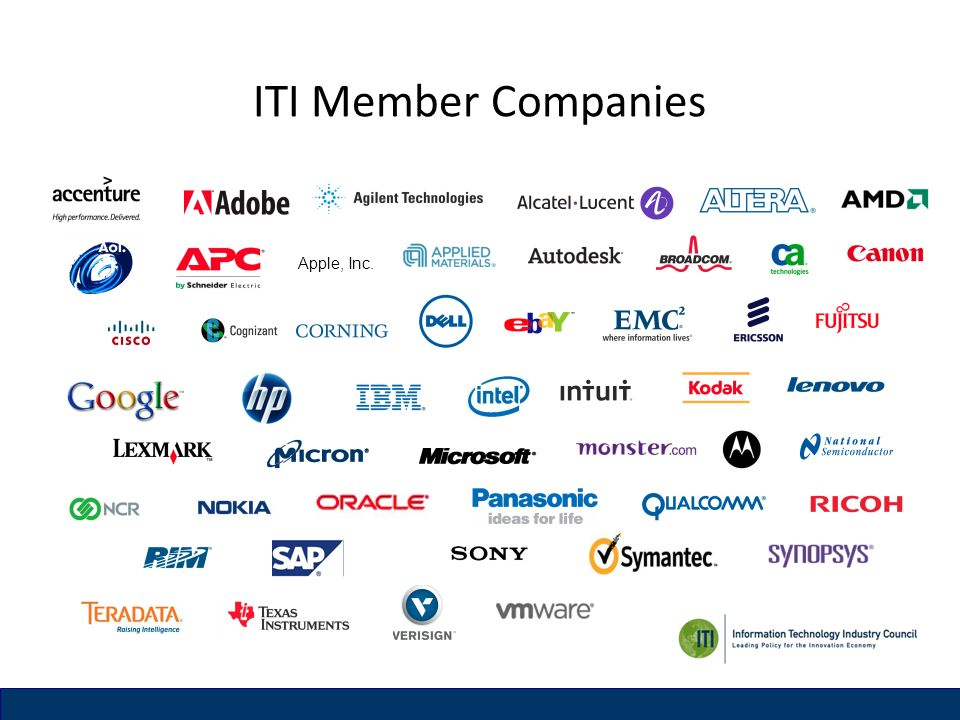 ITI Member Companies Apple, Inc.