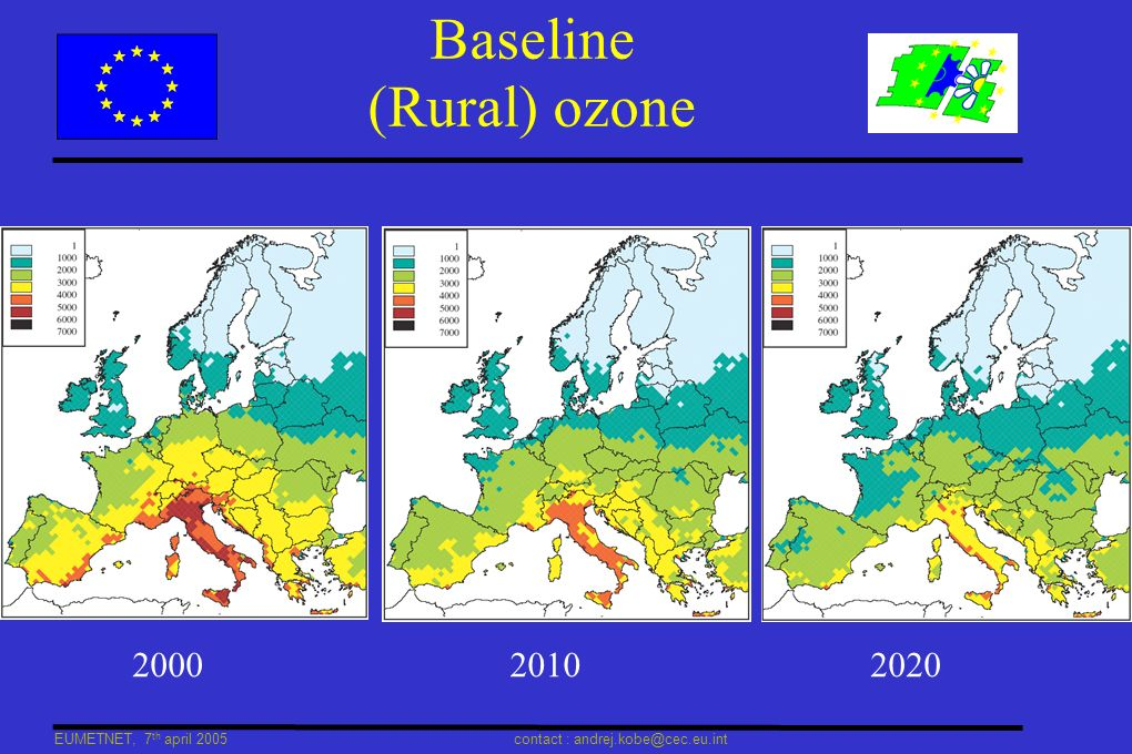EUMETNET, 7 th april 2005 contact : andrej.kobe@cec.eu.int Real-time exchange Encouraged by DG ENV, but not mandatory When ozone real-time exchange substantially covers EU, it can be a very effective replacement of currently requested provisional ozone reporting Required exchange between neighbours on elevated concentrations : facilitation through centralized exchange.