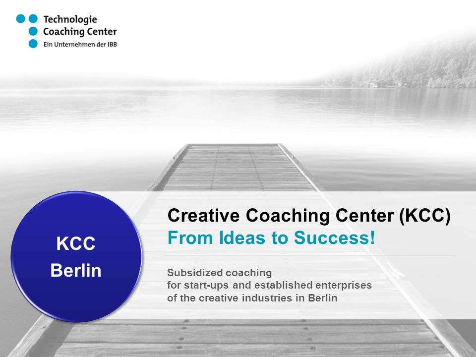 Creative Coaching Center (KCC) From Ideas to Success.