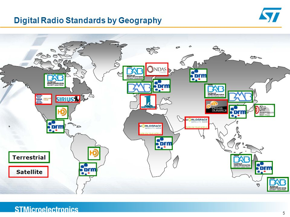 Digital Radio Standards by Geography 5