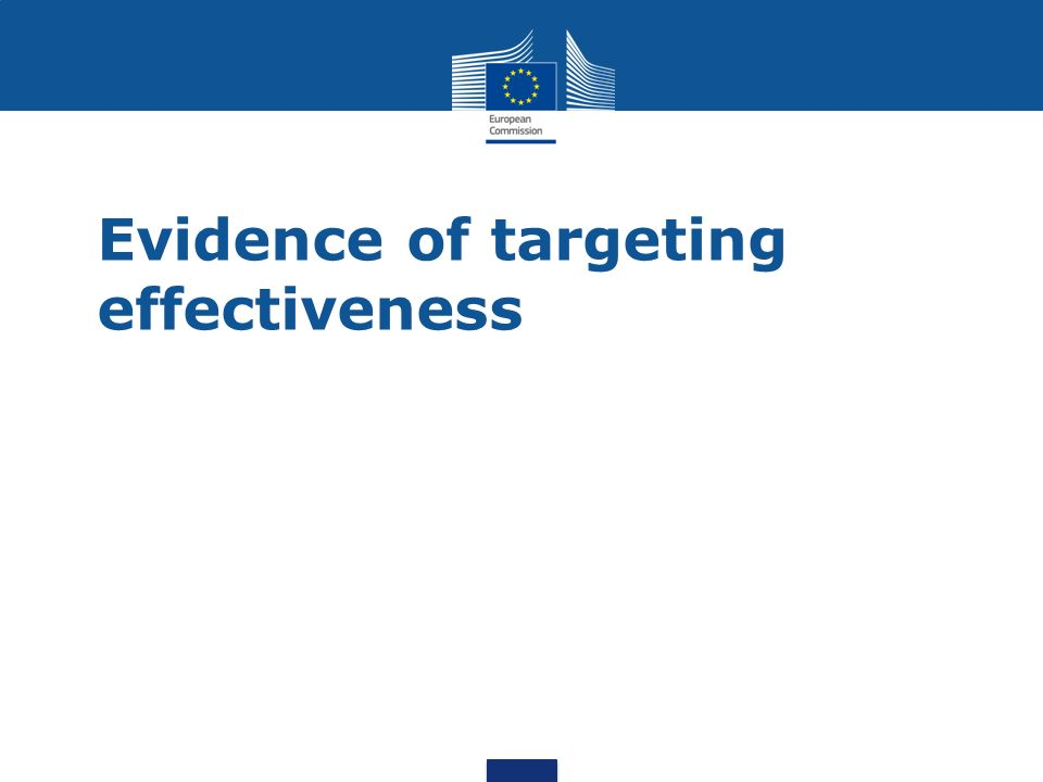 Evidence of targeting effectiveness
