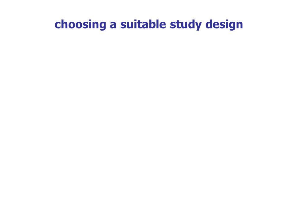 choosing a suitable study design