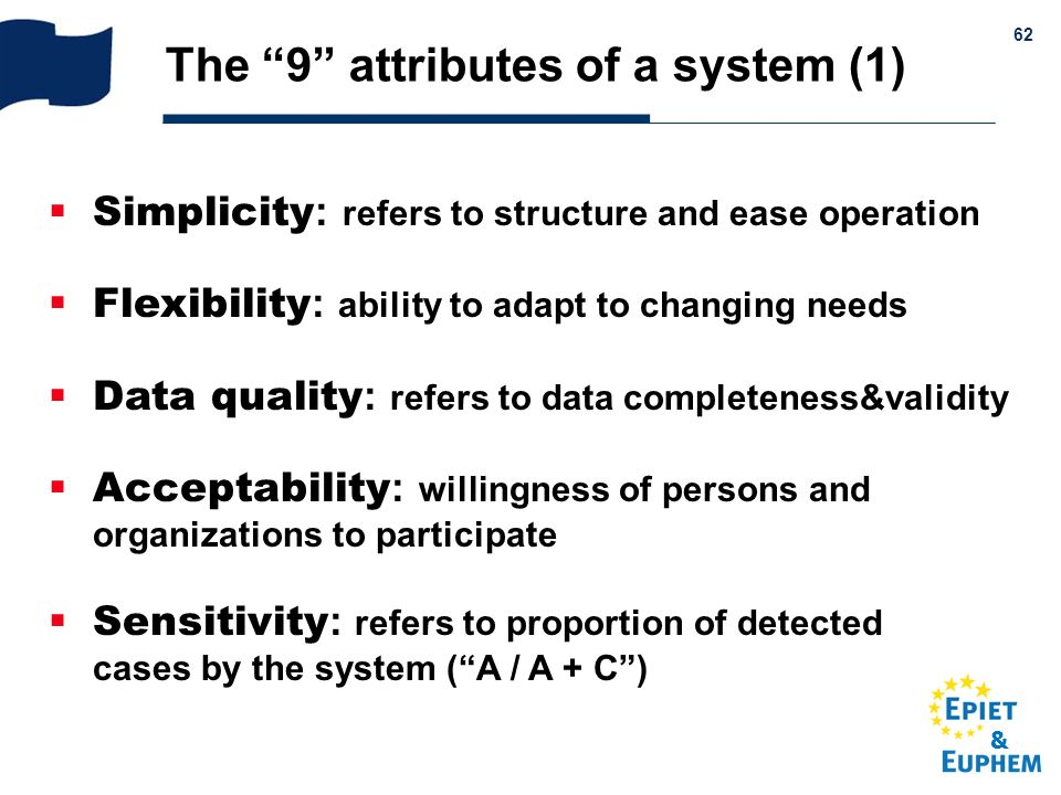 & 62 Simplicity : refers to structure and ease operation Flexibility : ability to adapt to changing needs Data quality : refers to data completeness&v