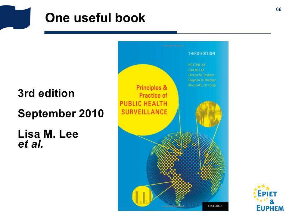 & 66 One useful book 3rd edition September 2010 Lisa M. Lee et al.