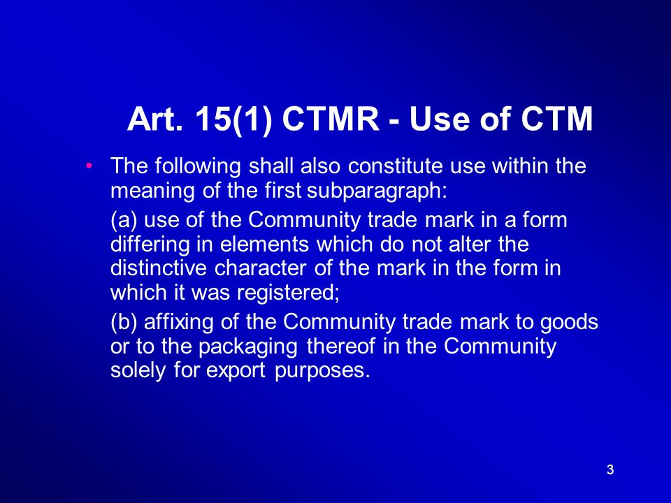 14 Directive to approximate the laws of MS relating to TMs Art.