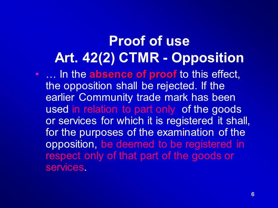 17 Act on Trademarks Act No.441/2003 Coll. Art.