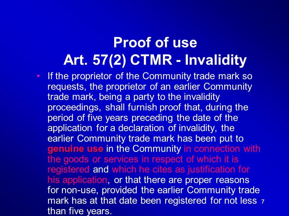 8 Proof of use Art.
