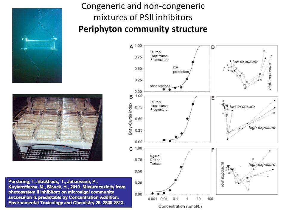 Congeneric and non-congeneric mixtures of PSII inhibitors Periphyton community structure Porsbring, T., Backhaus, T., Johansson, P., Kuylenstierna, M.