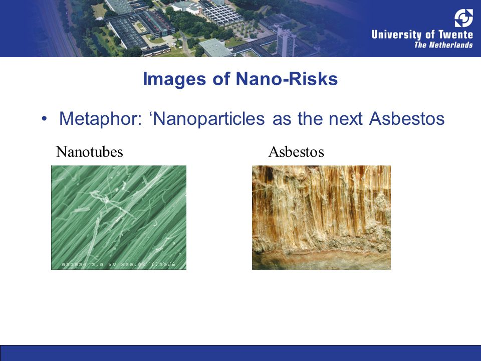 Images of Nano-Risks Metaphor: Nanoparticles as the next Asbestos NanotubesAsbestos