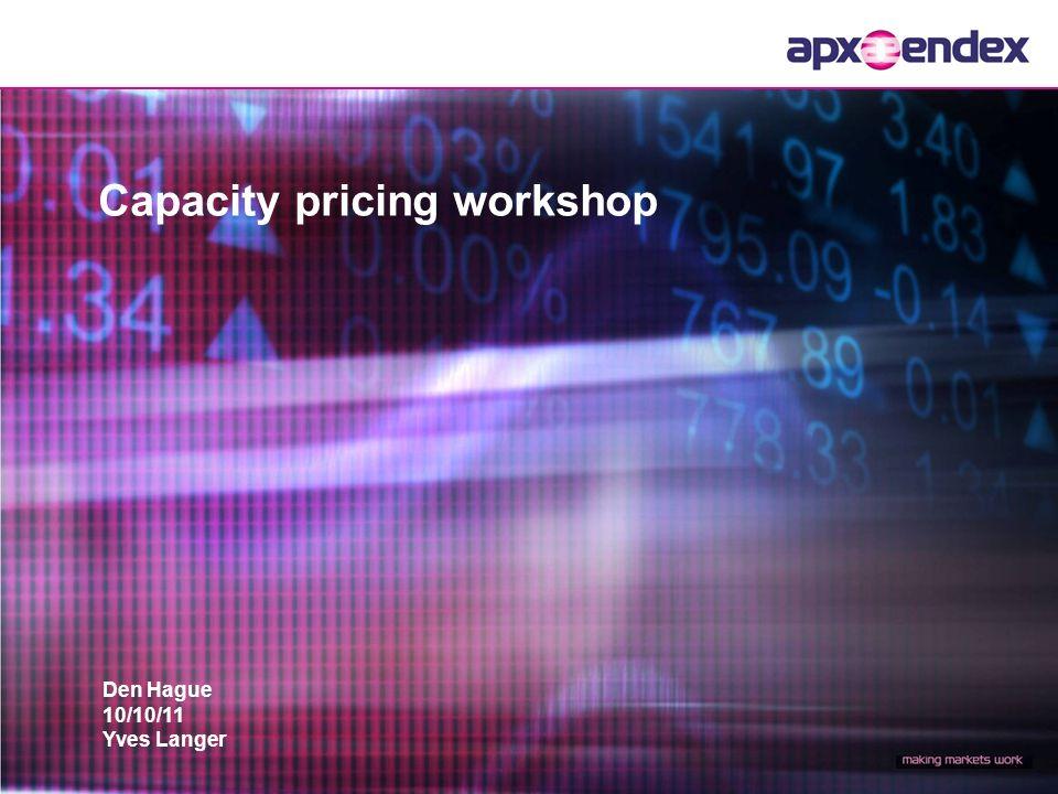 Den Hague 10/10/11 Yves Langer Capacity pricing workshop