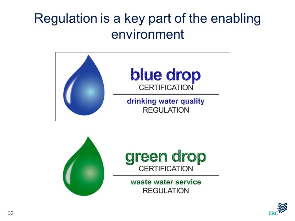 Regulation is a key part of the enabling environment 32