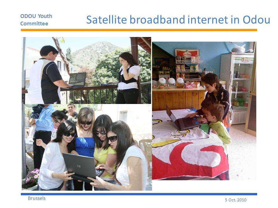 ODOU Youth Committee Brussels 5 Oct. 2010 Satellite broadband internet in Odou