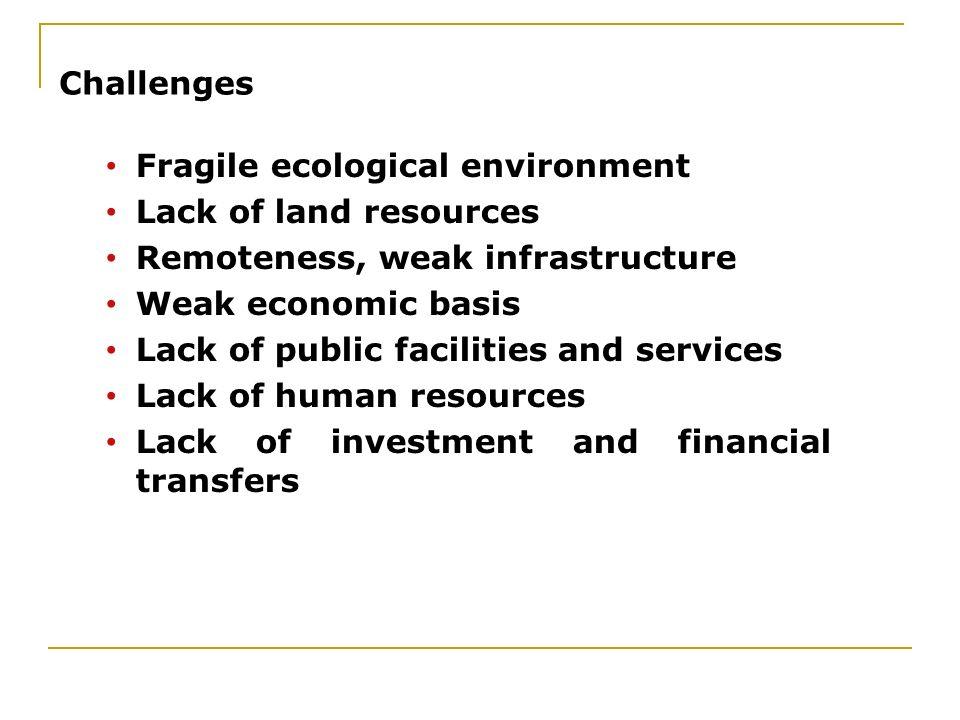 16.02.2014 Challenges Fragile ecological environment Lack of land resources Remoteness, weak infrastructure Weak economic basis Lack of public facilit