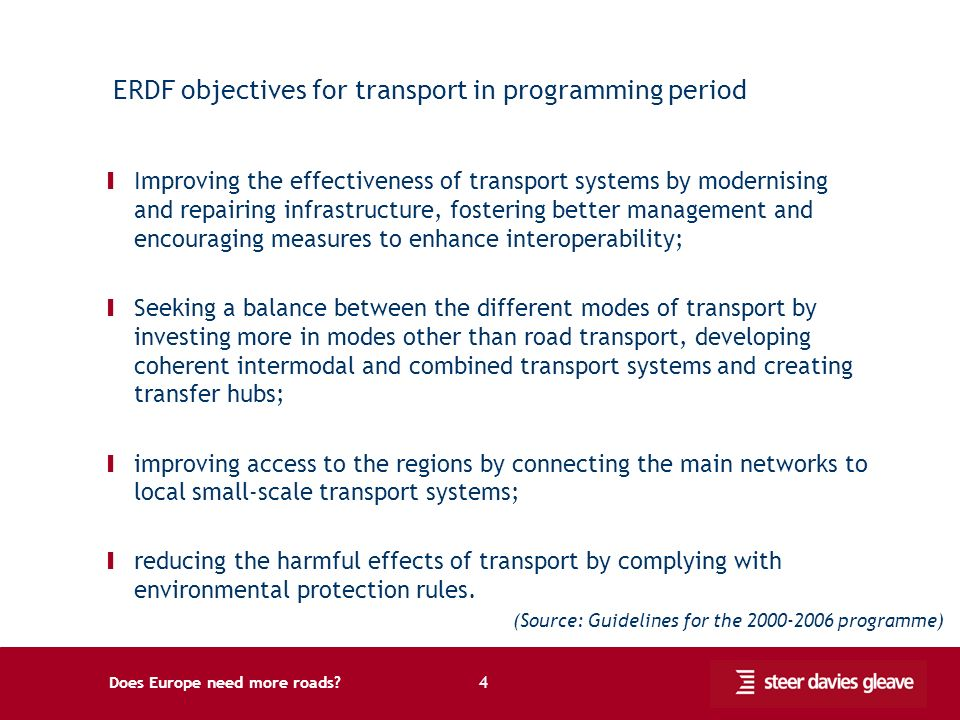 Does Europe need more roads? 5 Financial outcomes from investment co-financed by the ERDF