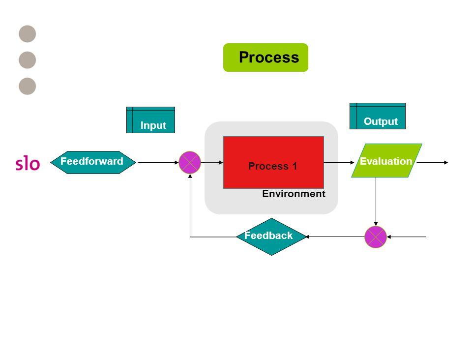 Process 1 Feedback Evaluation Environment Feedforward Input Output Process