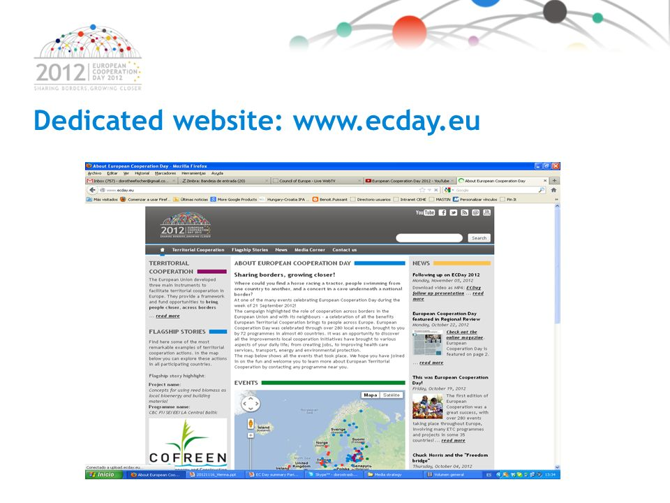 Dedicated website: www.ecday.eu Click to watch!