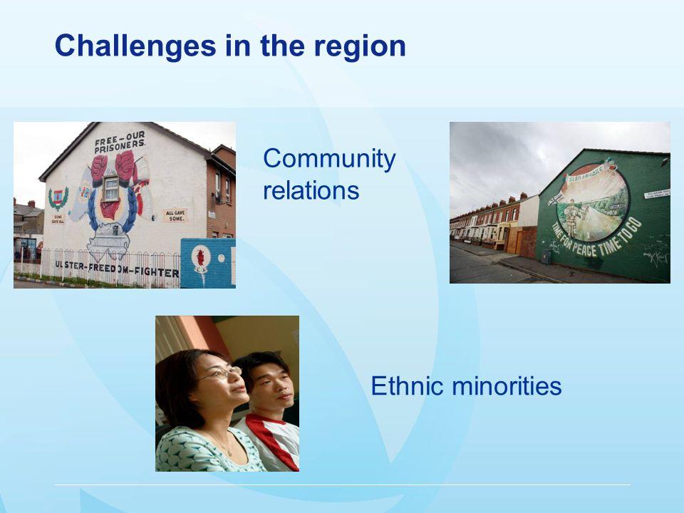 Challenges in the region Community relations Ethnic minorities