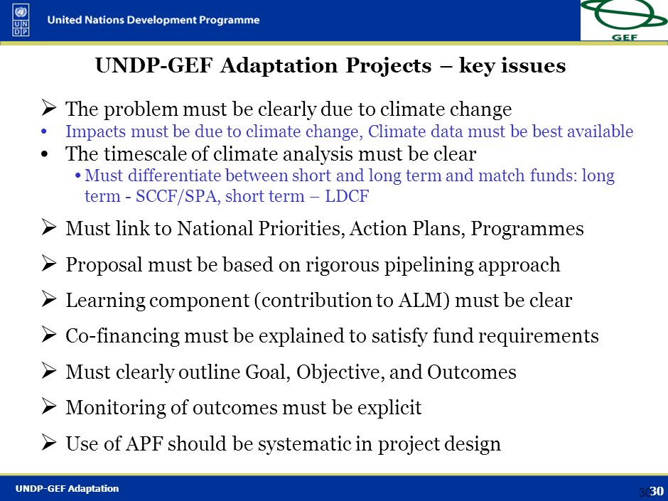 UNDP-GEF Adaptation 29 Namibia - CCA Adapting to Climate Change through the Improvement of Traditional Crops and Livestock Farming – Fund: SPA, LD – A
