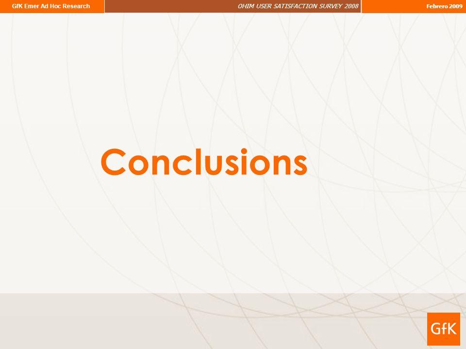 GfK Emer Ad Hoc Research OHIM USER SATISFACTION SURVEY 2008 Febrero 2009 Conclusions