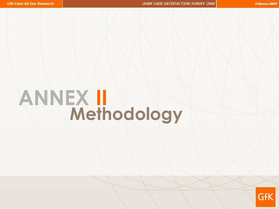 GfK Emer Ad Hoc Research OHIM USER SATISFACTION SURVEY 2008 Febrero 2009 Methodology ANNEX II