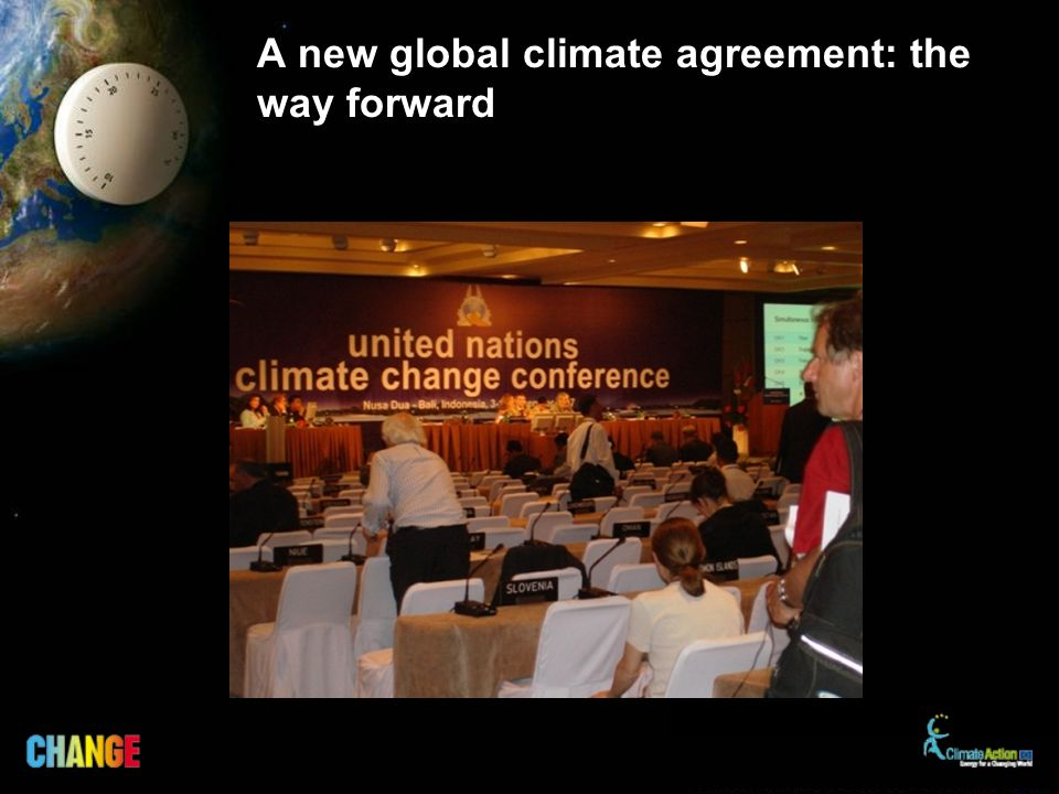 A new global climate agreement: the way forward