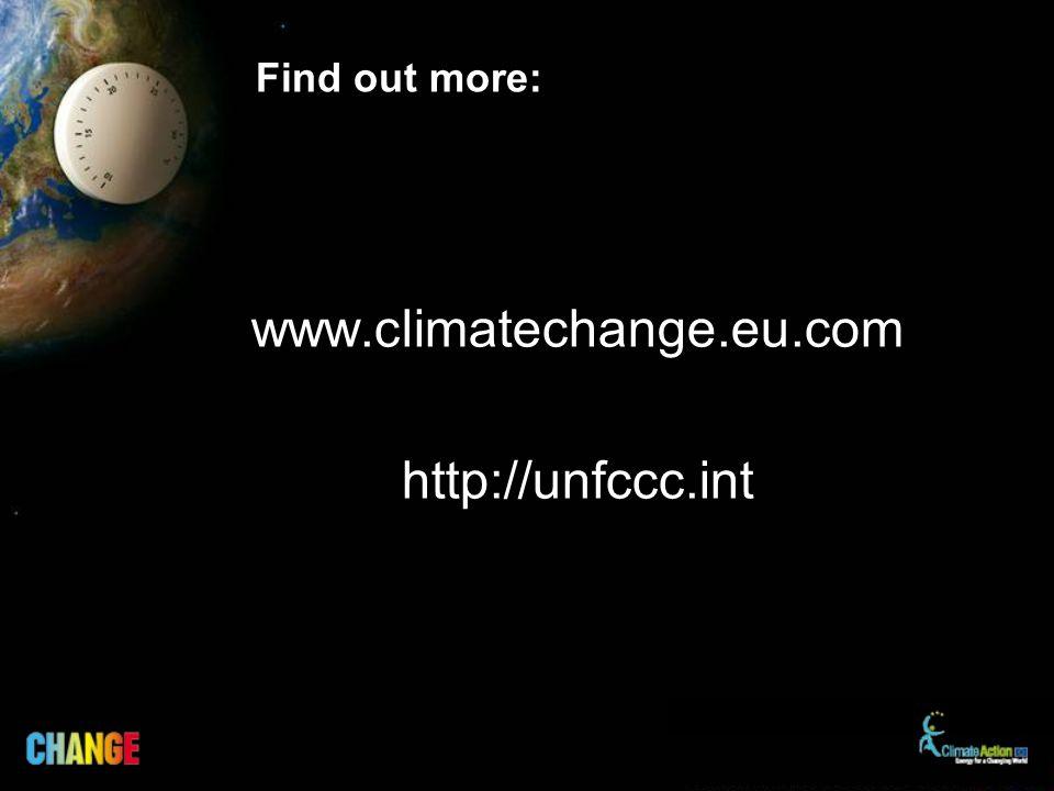 Find out more: www.climatechange.eu.com http://unfccc.int