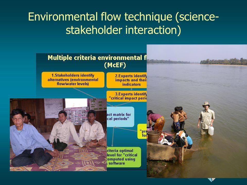 Environmetal flow technique (Berge et al, 2009)