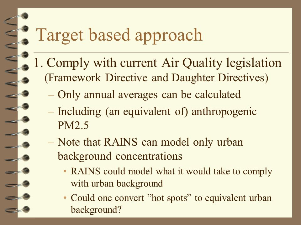 Target based approach 1.