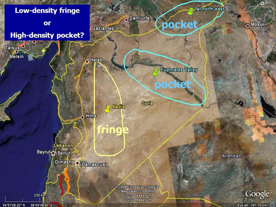 pocket fringe Low-density fringe or High-density pocket?
