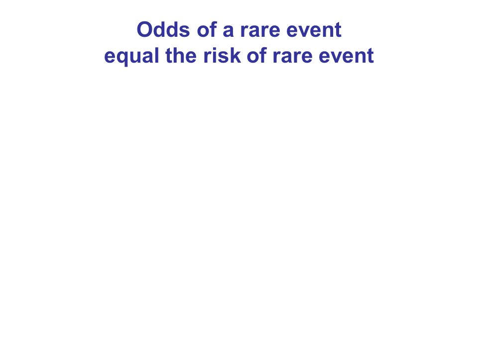 Odds of a rare event equal the risk of rare event