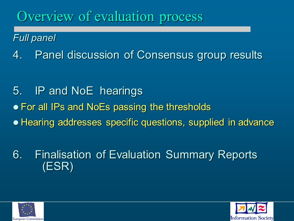 Full panel 4. Panel discussion of Consensus group results 5.