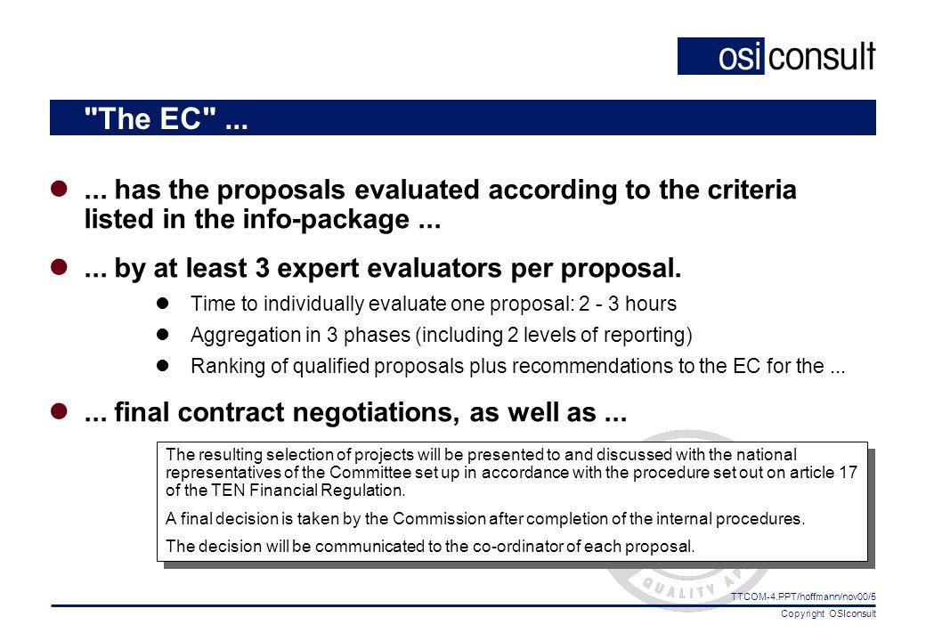Copyright OSIconsult TTCOM-4.PPT/hoffmann/nov00/5 The EC ......