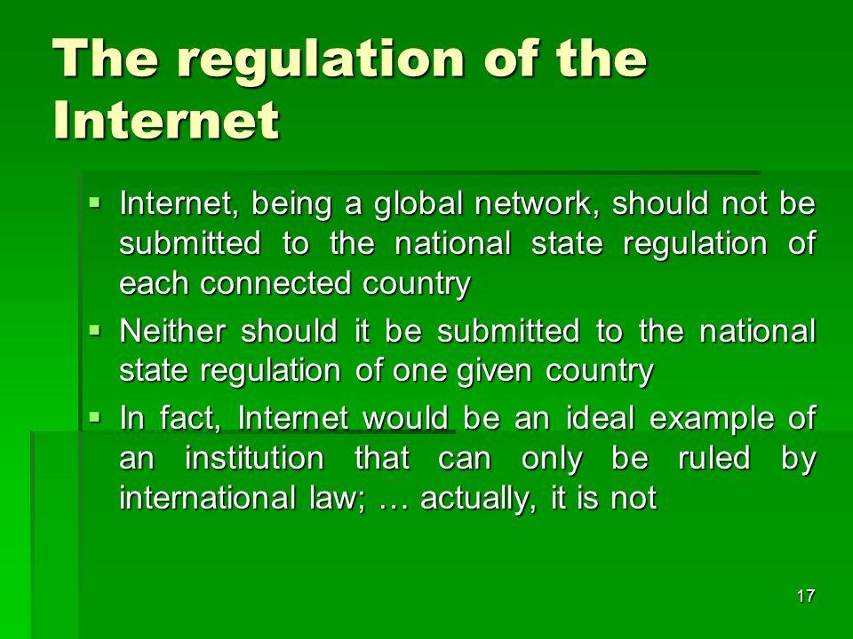 16 Part II The Internet Governance