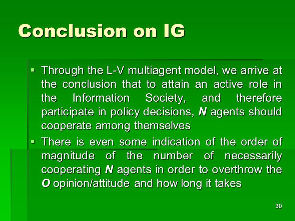29 Governance problem Summary Convergence of whose views.