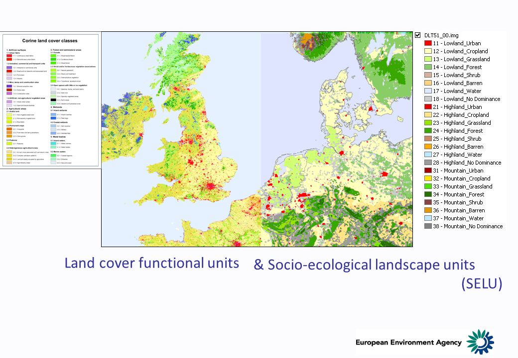 Land cover functional units & Socio-ecological landscape units (SELU)