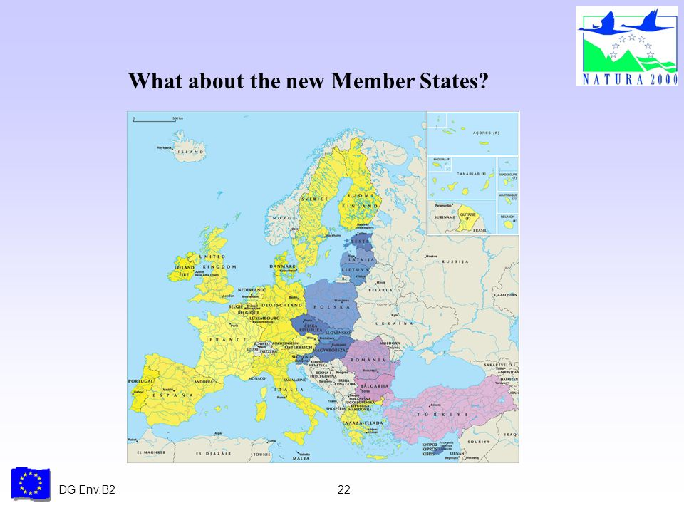DG Env.B222 What about the new Member States?