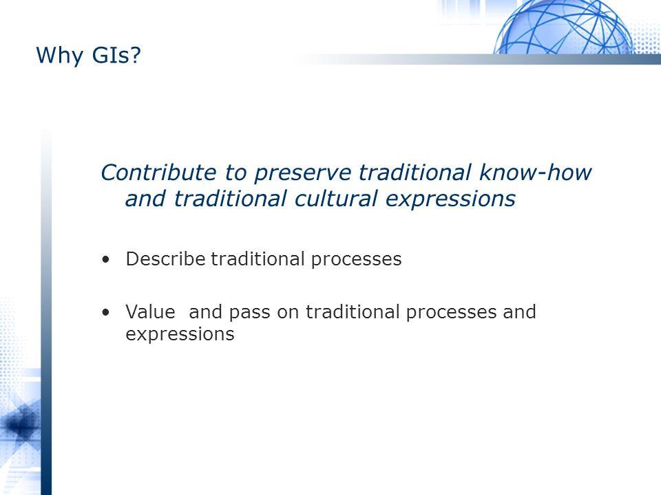 Why GIs.
