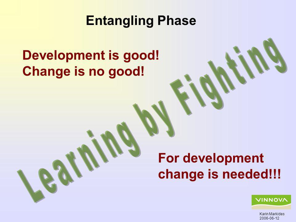 Development is good. Change is no good. For development change is needed!!.