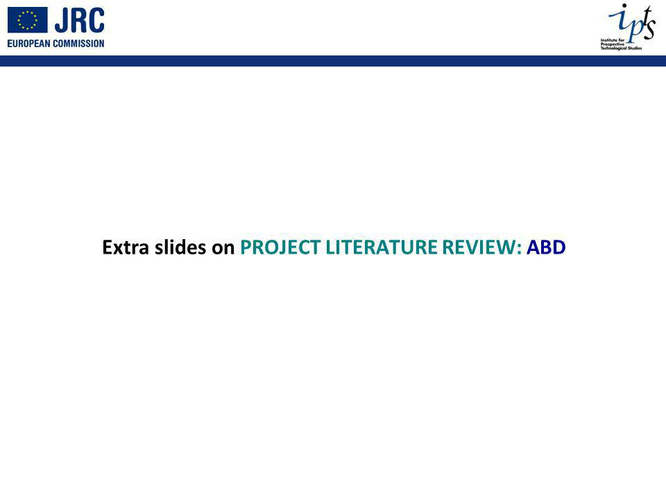 Extra slides on PROJECT LITERATURE REVIEW: ABD