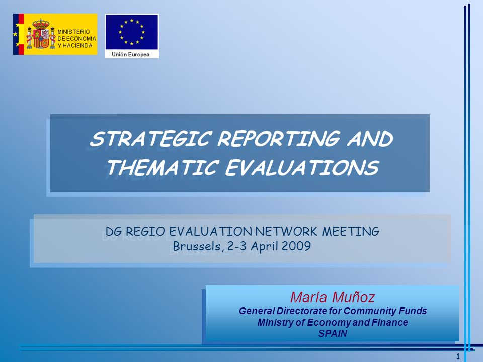 12 GEENRAL DIRECTORATE FOR COMMUNITY FUNDS STRATEGIC THEMATIC EVALUATIONS (III) Content Content –CHAPTER I.