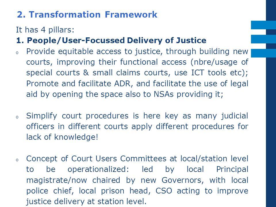 2.Transformation Framework It has 4 pillars: 1.