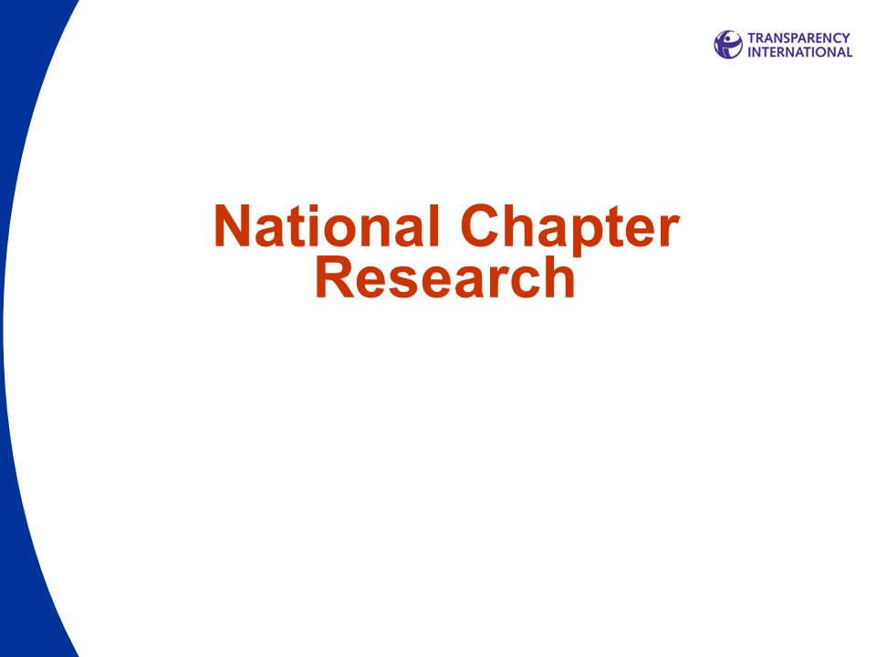 National Chapter Research