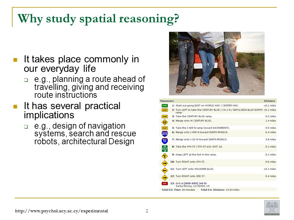 2 Why study spatial reasoning.